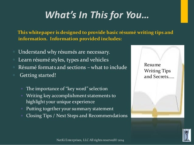 resume writing tips that gives you the winning whitepaper updated 2 638