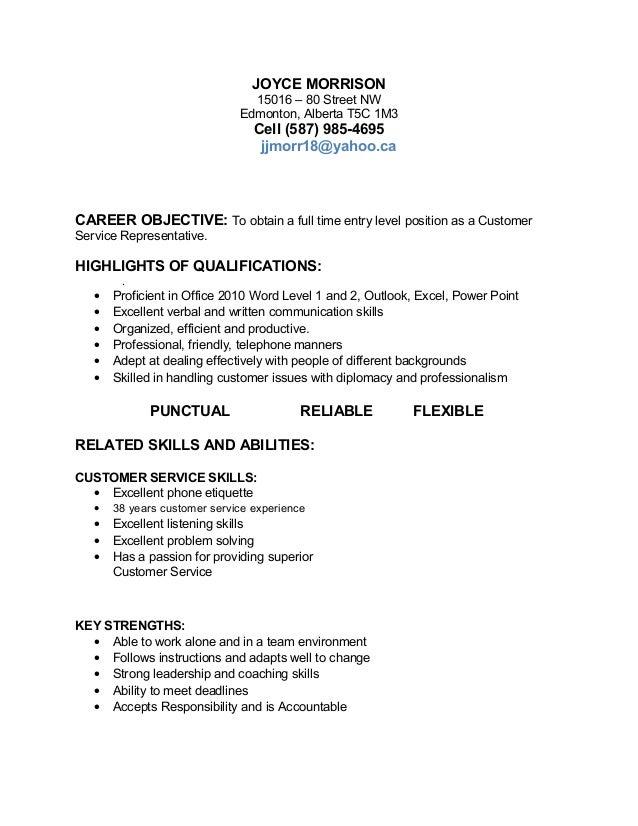 job target resume