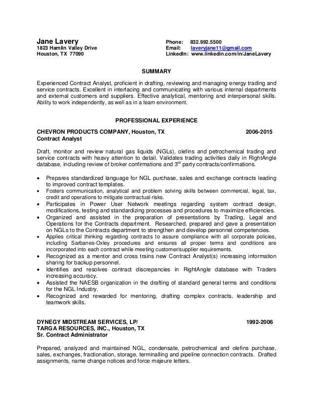 Luxury Energy Trading Resume Houston Image - Administrative Officer ...