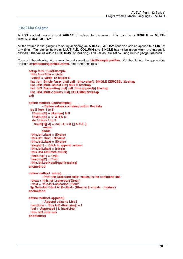 Programmable Macro Language (Basic)