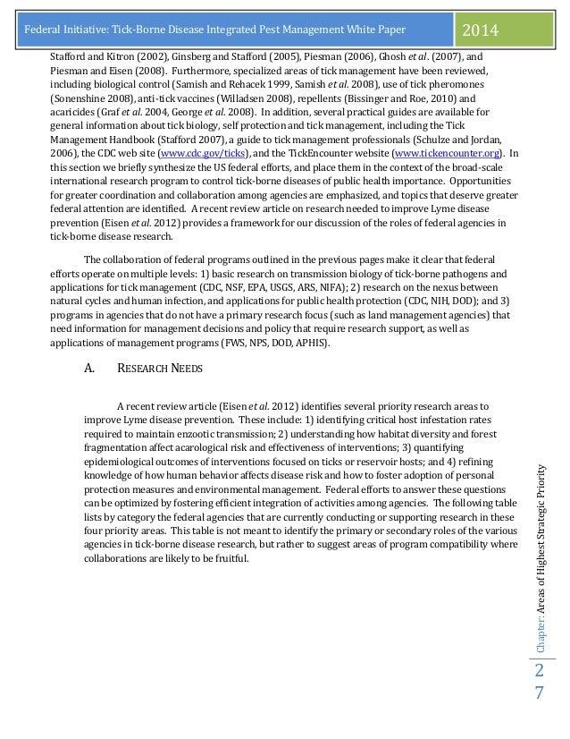 Lyme Disease Position Paper