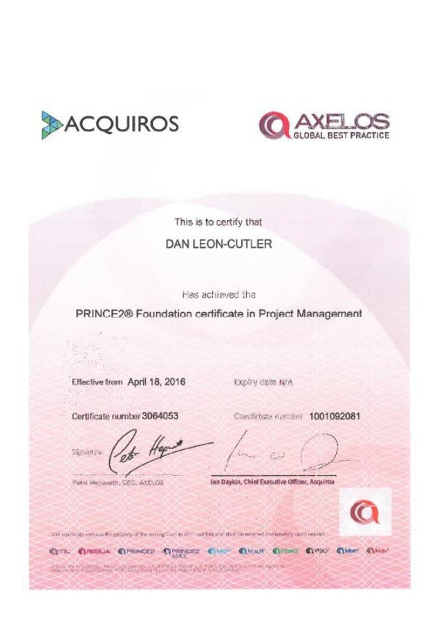 Pm Certification Gallery Certificate Design Template Free
