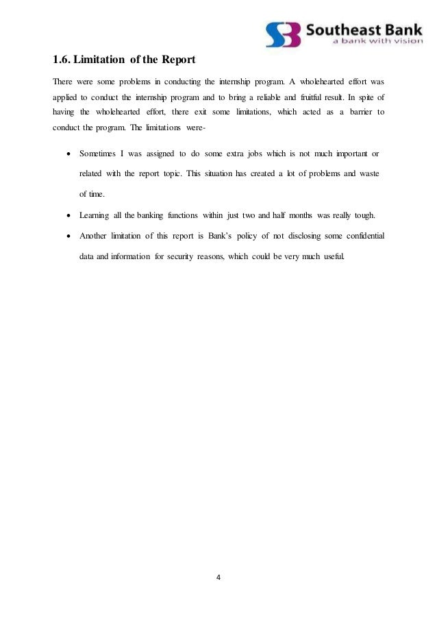internship report on sebl Internship report for law students 1 amity university, uttar pradesh third weekly progress report monday (19/06/2017) on the first day of the last week my internship guide gave the research work on the consumer protection act.