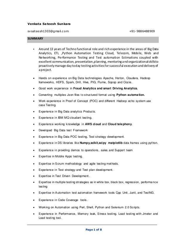 page 1 of 8 venkata sateesh sunkara svsateesh1303gmailcom 91 9886488909