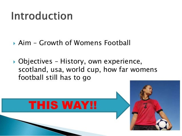 growth of womens football powerpoint Slide 2