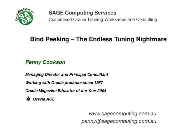SAGE Computing Services Customised Oracle Training Workshops and ConsultingCustomised Oracle Training Workshops and Consul...