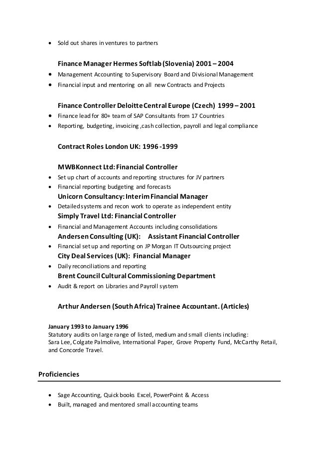 Anthony Vandoros CV - Summary2016
