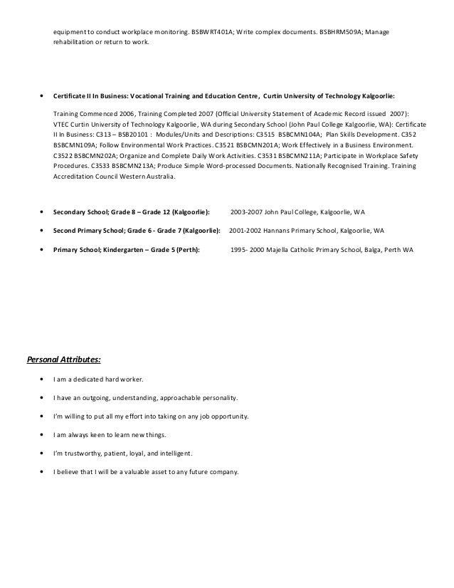 current ras resume