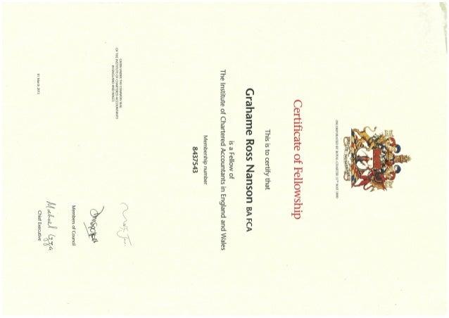 icaew certificate