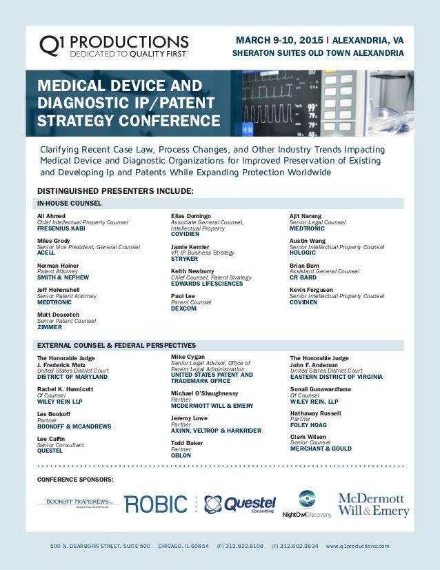 Agenda- Device Ip Patent Conference