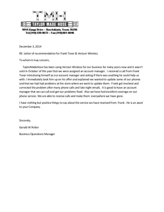 referral letter for business