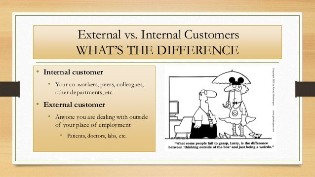 difference between internal and external customers Activity notes - internal vs external customers using the 'drag 'n' drop interactive  activity, learners must identify 3 examples of internal customers & 3 examples.