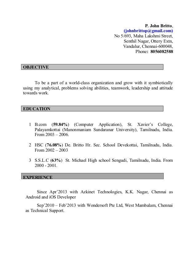 P. John Britto, (johnbrittop@gmail.com) No 5/693, Maha Lakshmi Street, Senthil Nagar, Ottery Extn, Vandalur, Chennai-60004...