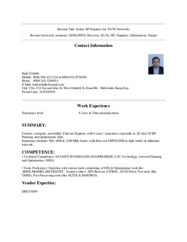 3g resume