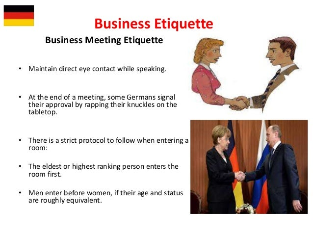 Germany they allow your german colleagues to determine if you are trustworthy business etiquette 13 m4hsunfo