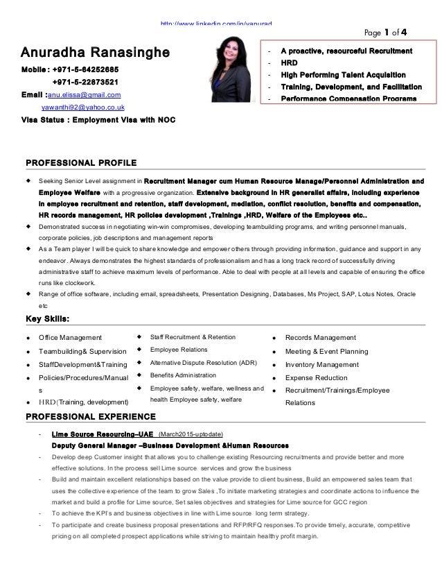 Hr Recruiter Resume Format Download Vosvetenet – Recruiting Manager Resume