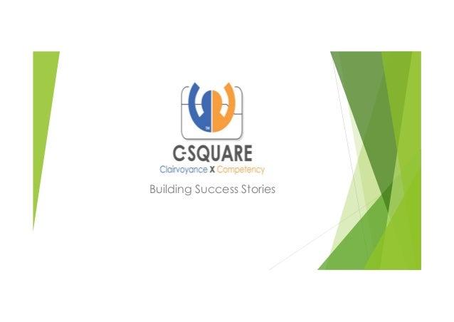 Building Success Stories