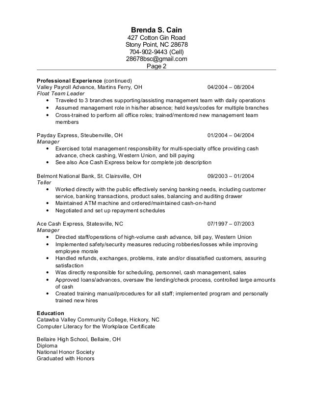 Beautiful Check Cashing Resume Pictures - Simple resume Office .