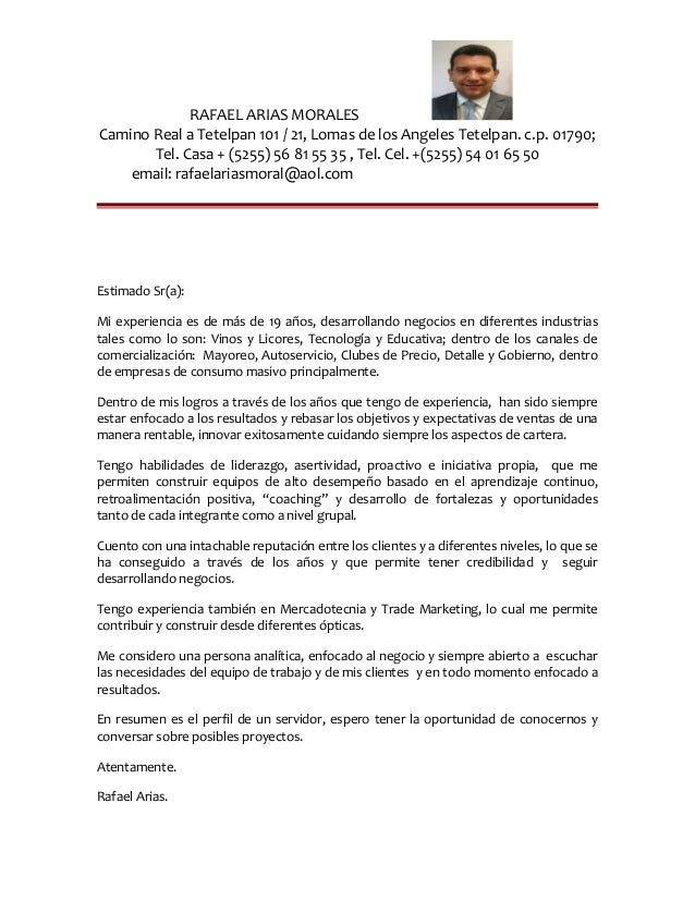 Cover Letter English - Espanol ´16