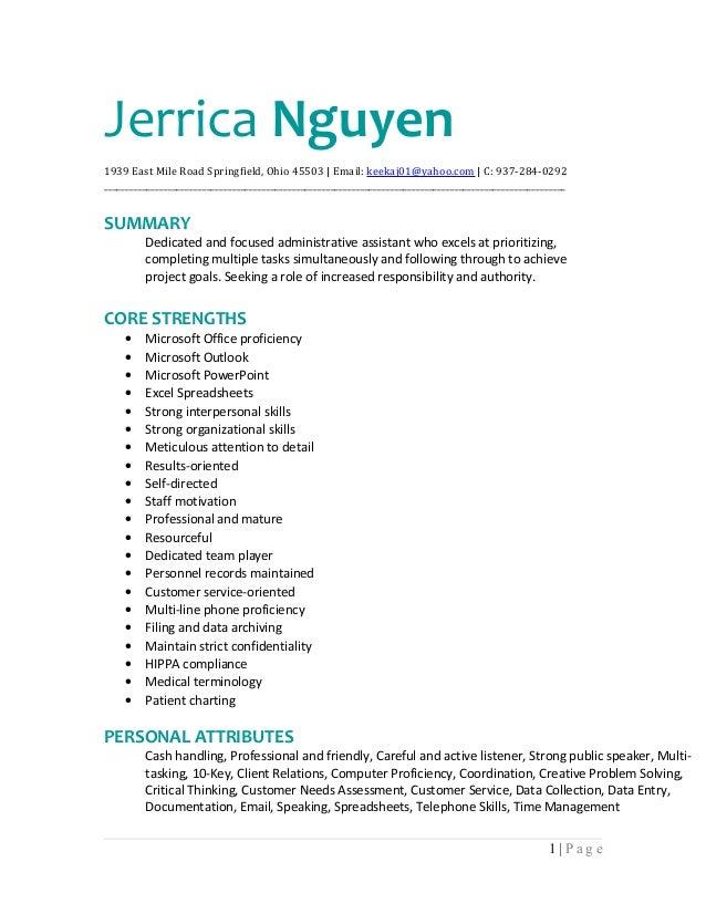 Jerrica Nguyen Resume