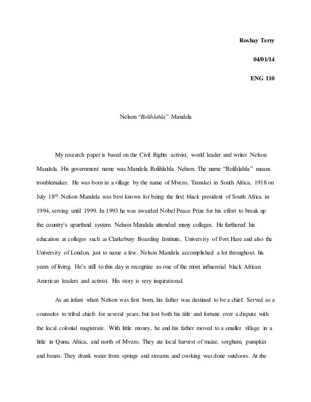 Important nelson mandela facts essay