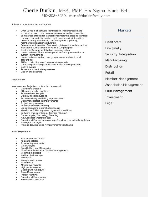 Pmp Resume Sample   Resume Format Download Pdf SlideShare