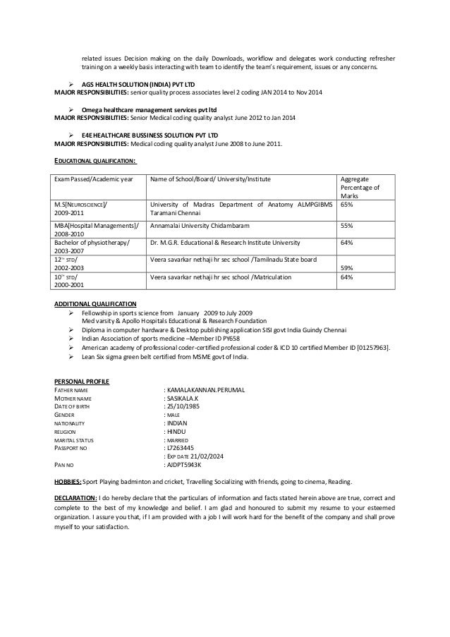 Medical Coding Experience Resume Zrom
