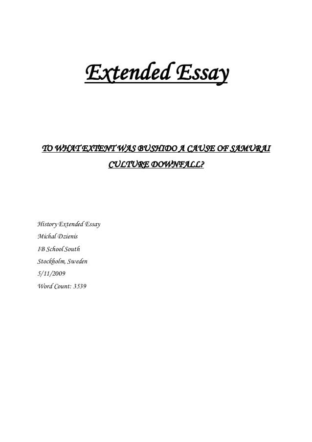 ib extended essay history History of ib in humble isd apply for ib at hhs  the extended essay is a culminating research project promoting high-level research and writing skills.