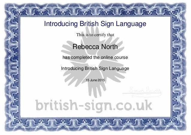BSL Certificate