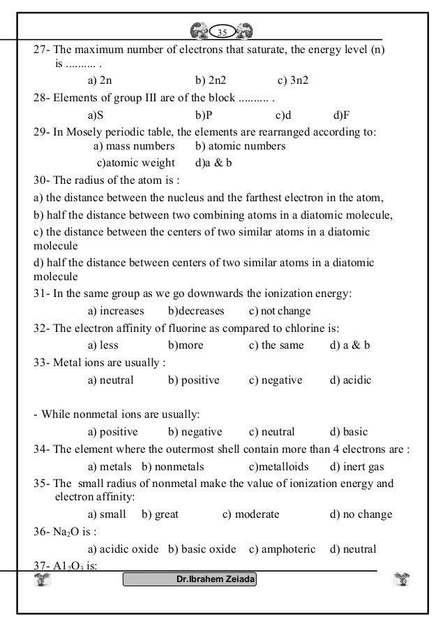 Chemistry 2nd sec full sheet 35 urtaz Image collections