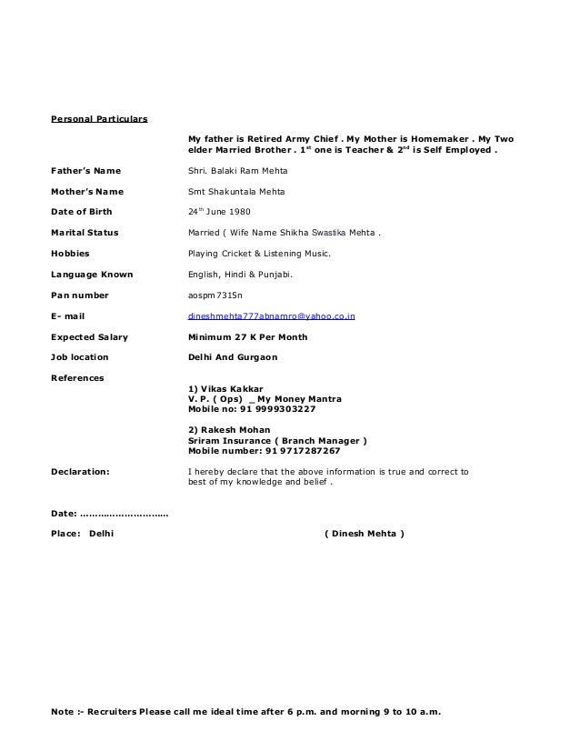 dinesh mehta updated resume 25 june 2015