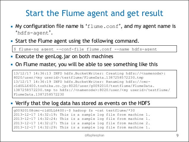 Apache Flume and its use case in Manufacturing – Sample Case File
