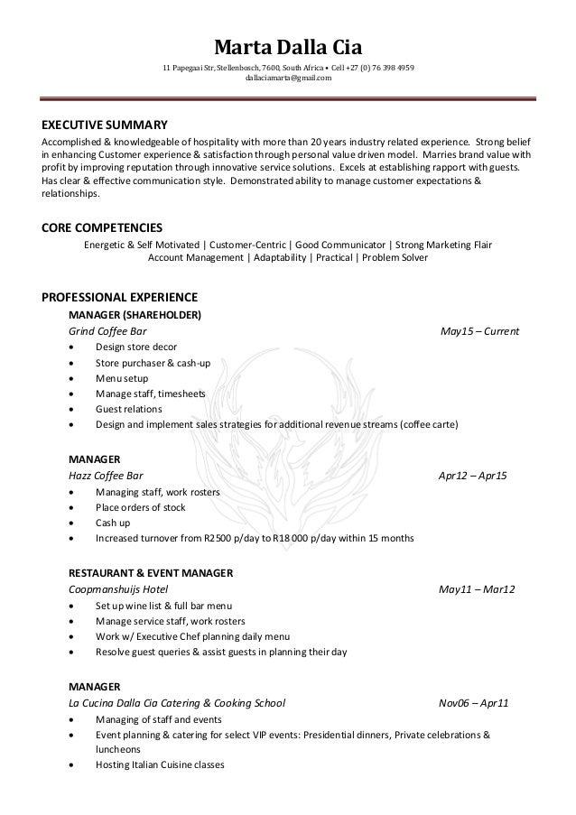 cia resume