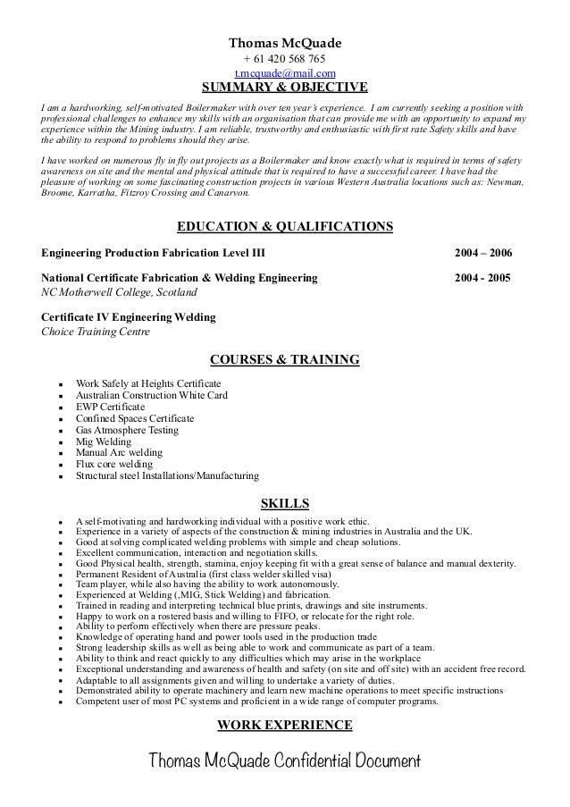Resume For Welders Business Brochure Design Company