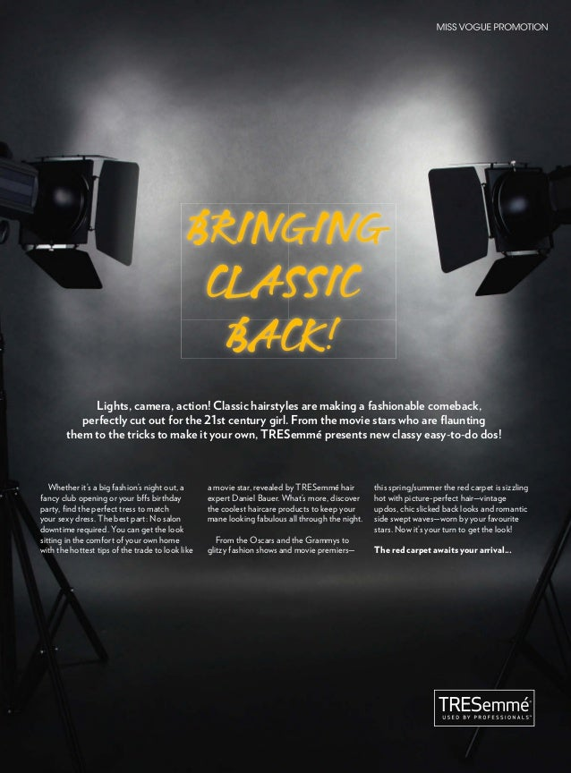 BRINGING CLASSIC BACK! Lights, camera, action! Classic hairstyles are making a fashionable comeback, perfectly cut out for...