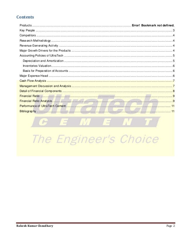 ultratech financial analysis Ultratech cement (nse:ultracemco) : stock quote, stock chart, quotes, analysis, advice, financials and news for share ultratech cement | national stock exchange of india: ultracemco.