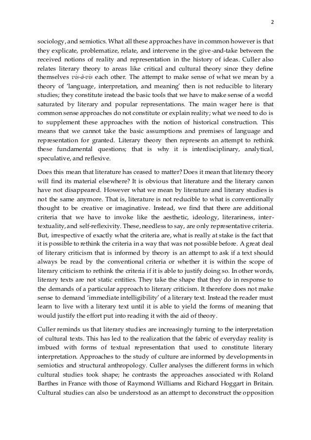 summary of literary theory