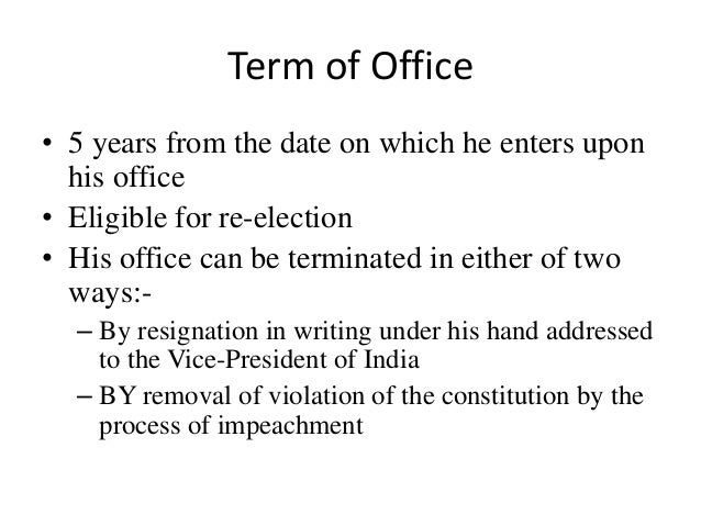 impeachment of president in indian constitution