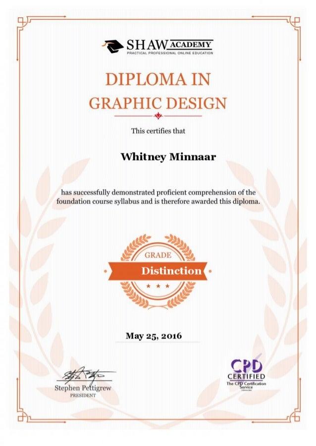 Graphic Design Certificate