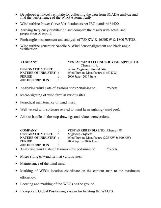Outstanding Vestas Wind Energy Resume Motif - Best Resume Examples ...