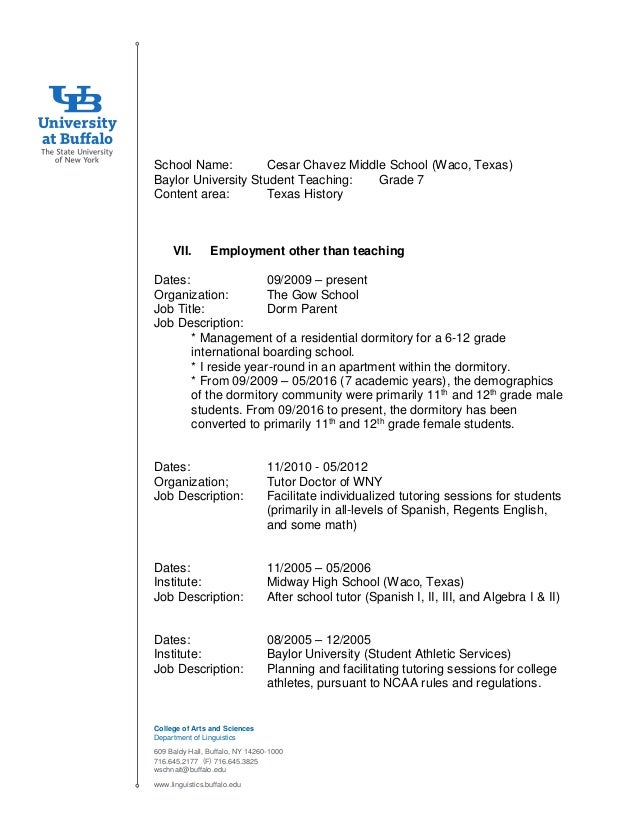 SchnaithmanResumeCVJan9General – Middle School Math Teacher Job Description