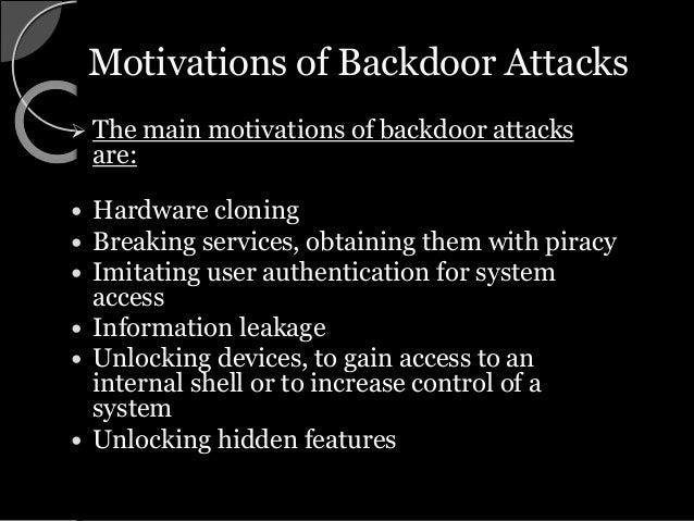 BackDoors Seminar