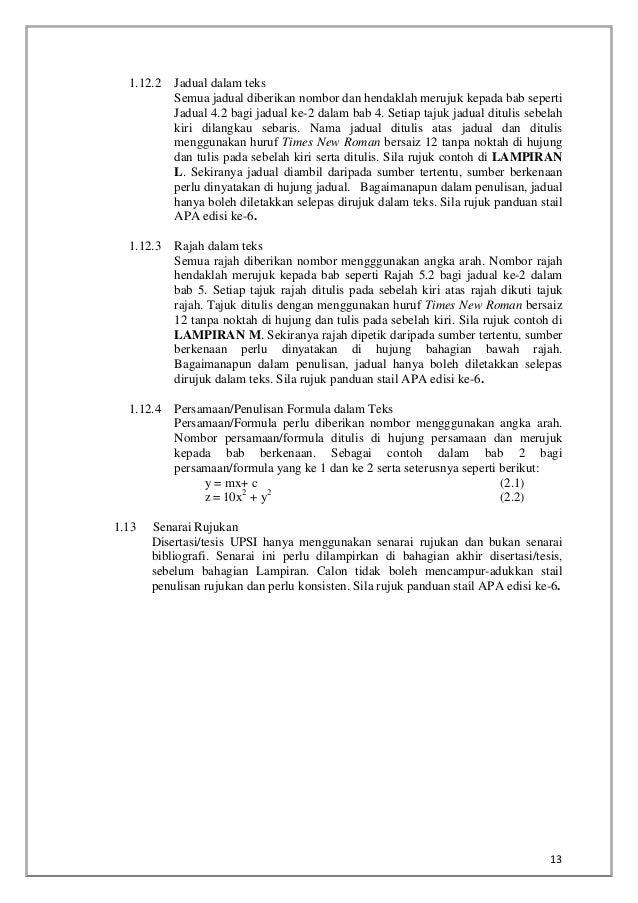 template thesis upsi