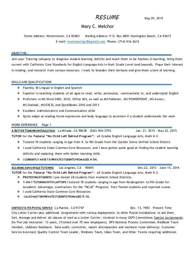 resume tutoring valuebook co