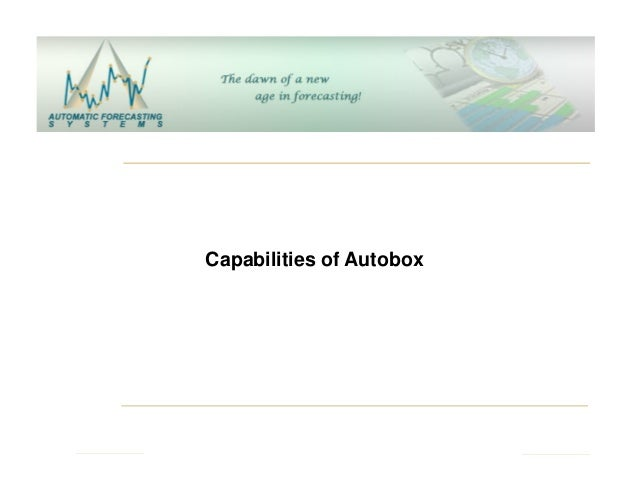 Capabilities of Autobox