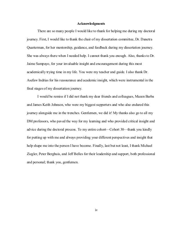 dissertation thank you notes Thank you for kindly participating in this questionnaire  to us, and may be used  to support recommendations proposed in conclusion to my dissertation thesis.