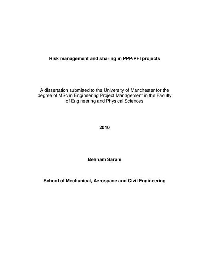 pfi dissertation topics