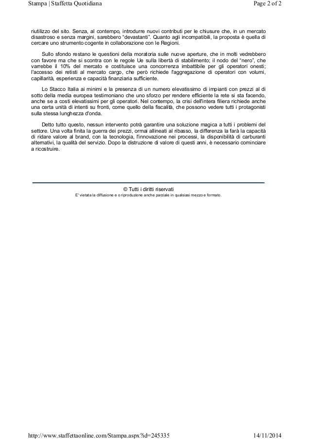 Rete Carburanti - Convegno Nov14 su razionalizzazione e bonifiche Slide 2