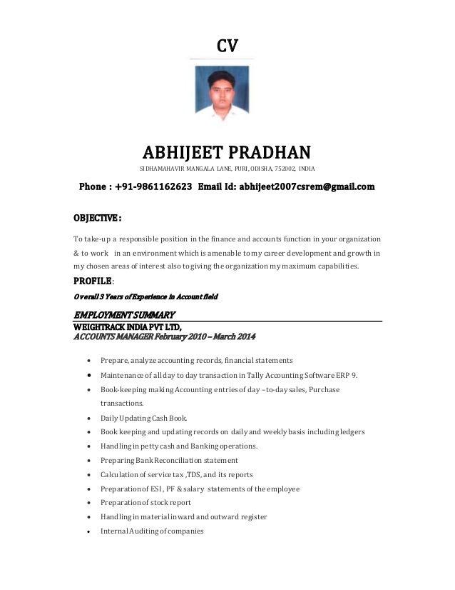Abhijeet Pradhan Resume