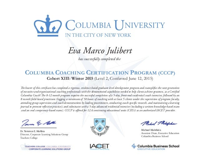 Cccp Aci Certificate Julibert